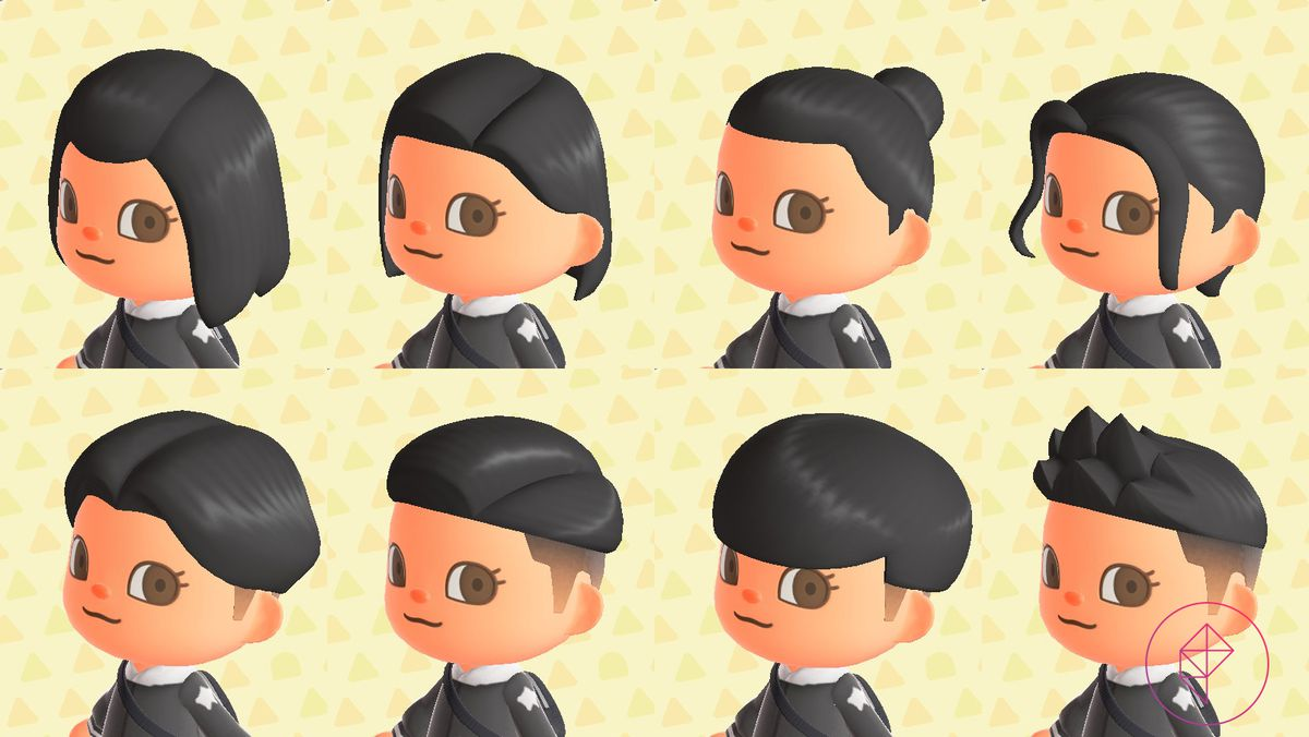 Terrific Animal Crossing New Horizons Switch Hair Guide Polygon Natural Hairstyles Runnerswayorg