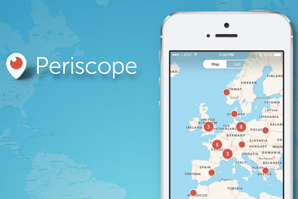 Periscopes new map view helps you find broadcasters by location the ios version of periscope twitters live streaming app received an update yesterday that brought with it a new map view the new view lets users browse gumiabroncs Images