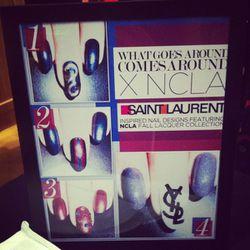 Saint Laurent-themed nail art, courtesy of NCLA