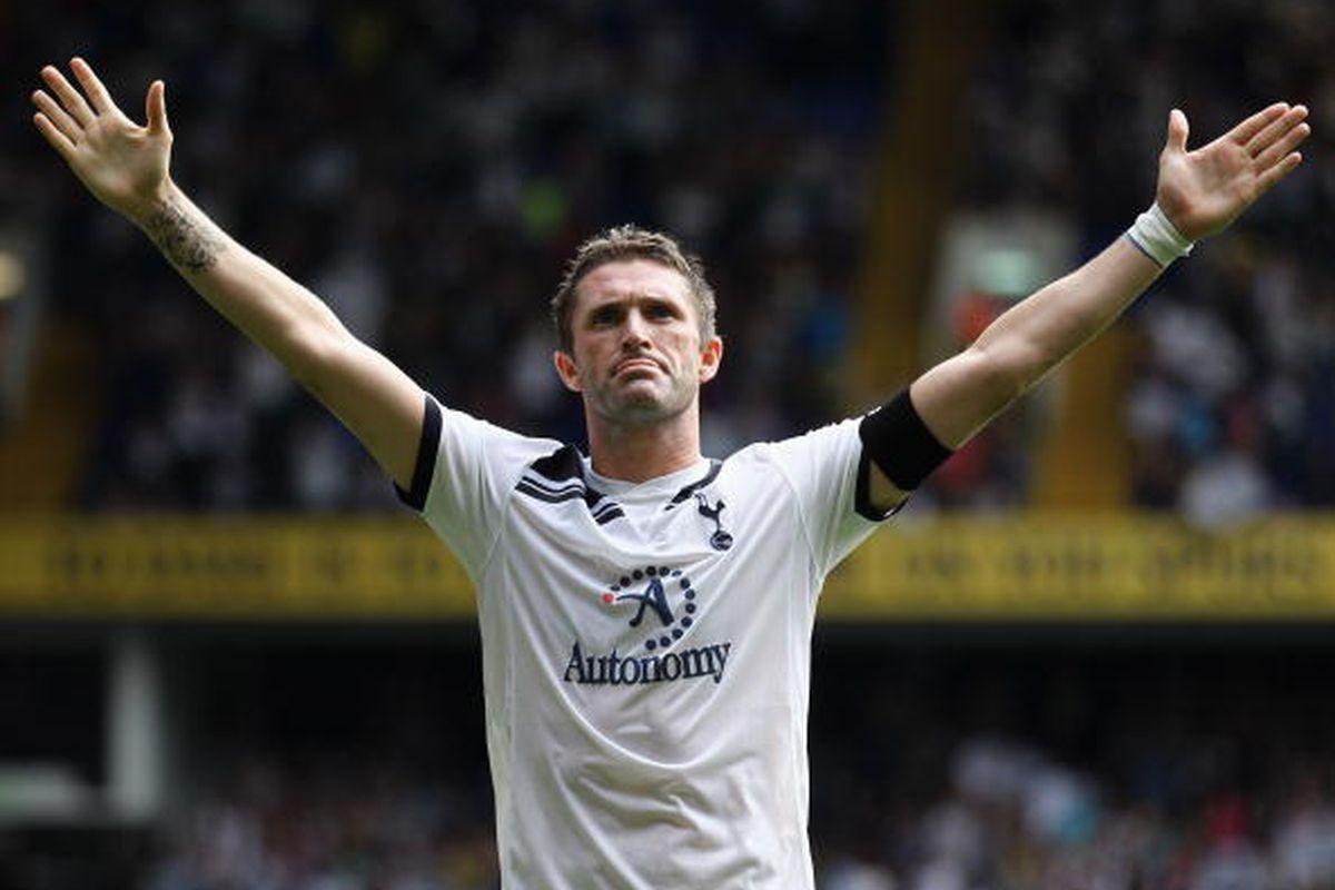 Robbie Keane of Tottenham Hotspur. Photo via Getty Images