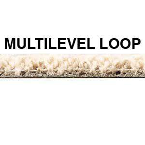 A multi-level loop pile on a carpet.