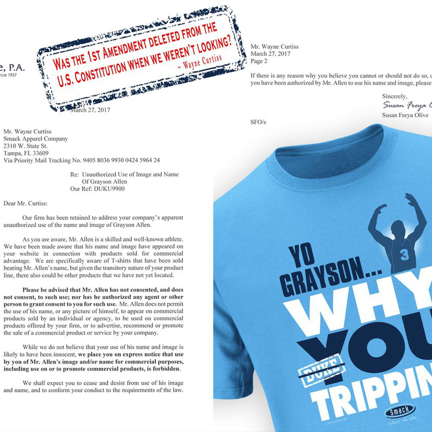 Duke sends cease and desist to company mocking grayson allen on t duke sends cease and desist to company mocking grayson allen on t shirts sbnation thecheapjerseys Image collections