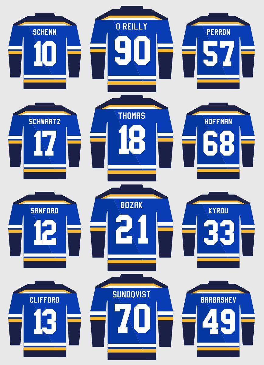 St. Louis Blues lines