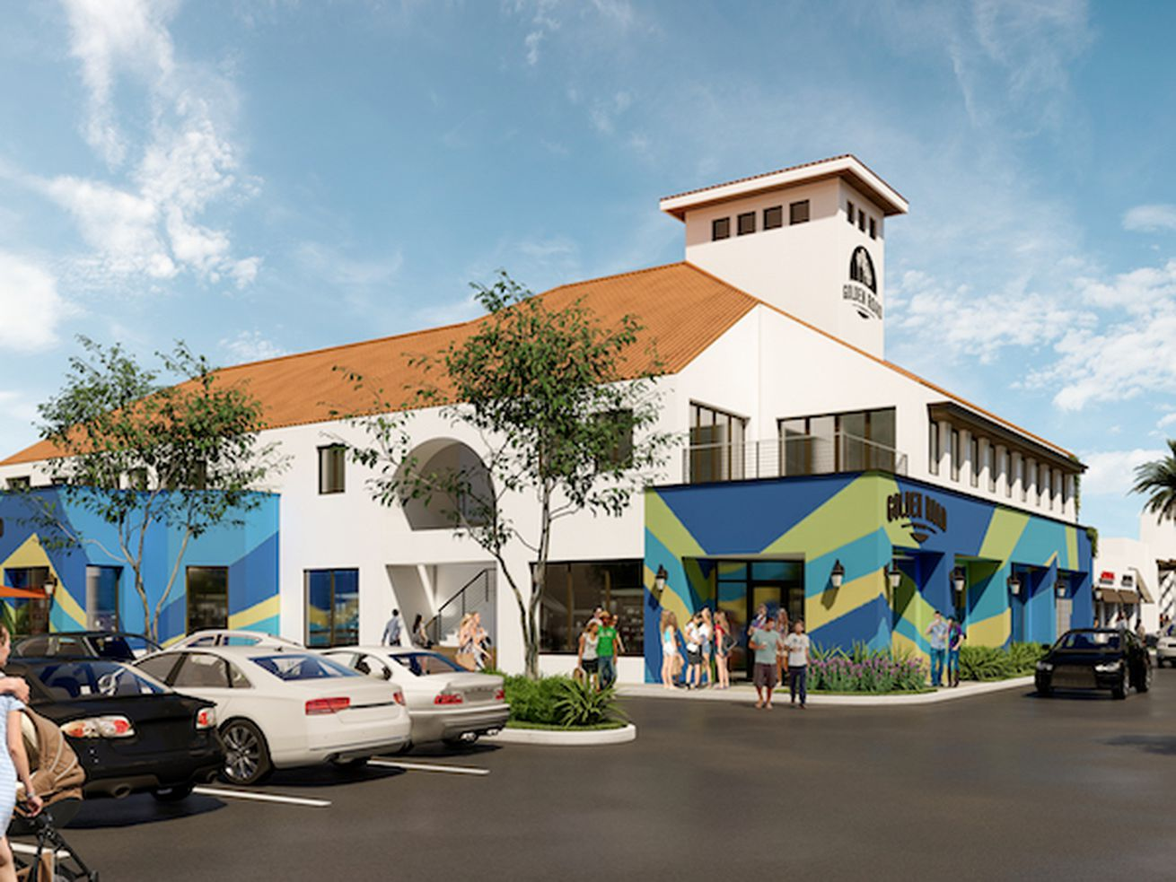 Rendering for Golden Road Brewing at Peter's Landing