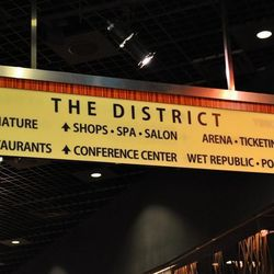 Directional signs to The District at the MGM Grand.