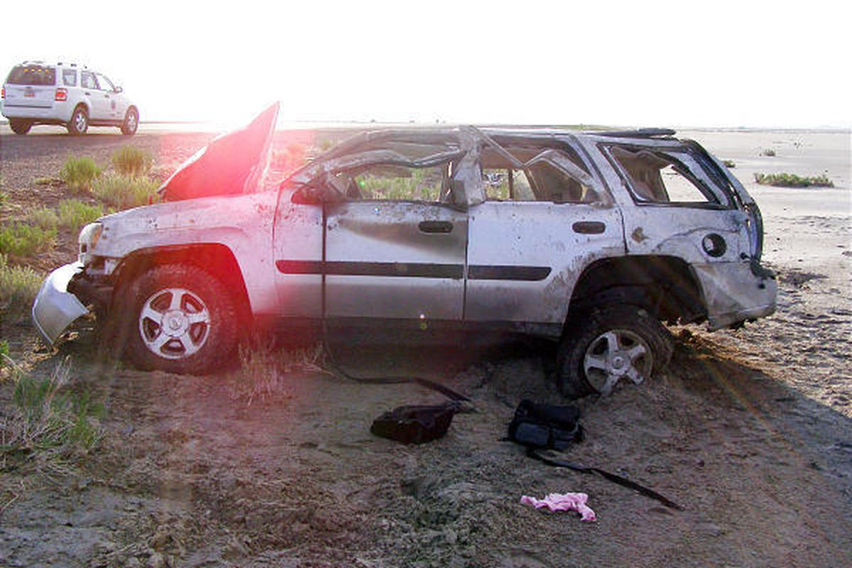 A 31-year-old Roy man died at the scene of an accident on I-80 early Monday morning.
