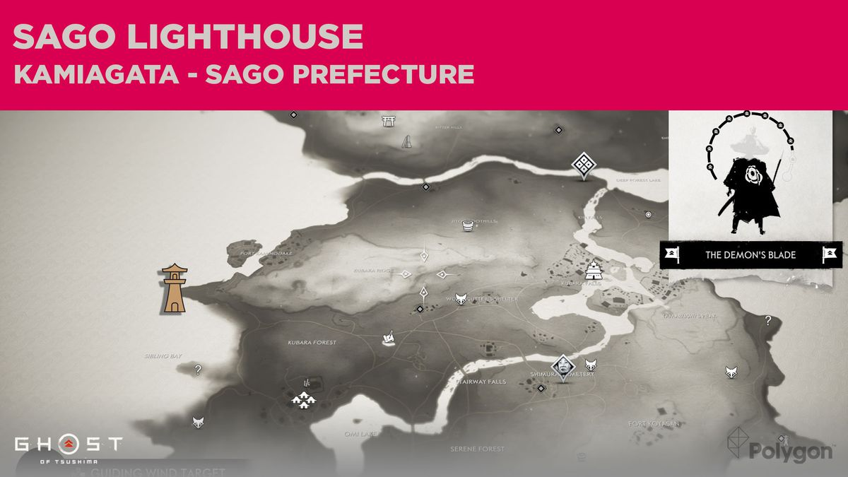 The lighthouse location in Sago in Ghost of Tsushima