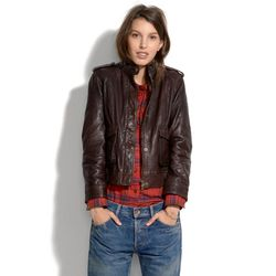 """""""If you're going to invest in one thing this season, it should be this leather jacket. You'll wear it to pieces."""" <a href=""""https://www.madewell.com/madewell_category/JACKETSANDOUTERWEAR/leather/PRDOVR~05286/05286.jsp"""">Modern Leather Bomber</a>, $525"""