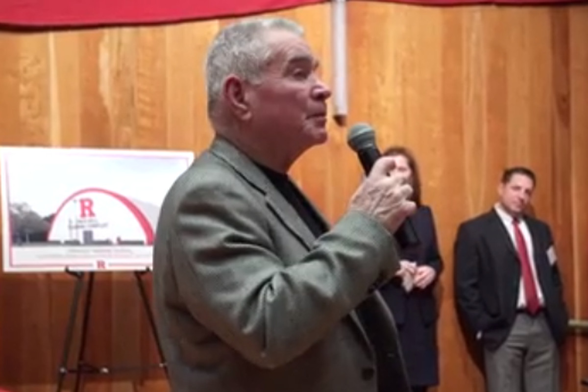 Fred Hill speaking at a fundraising event last winter