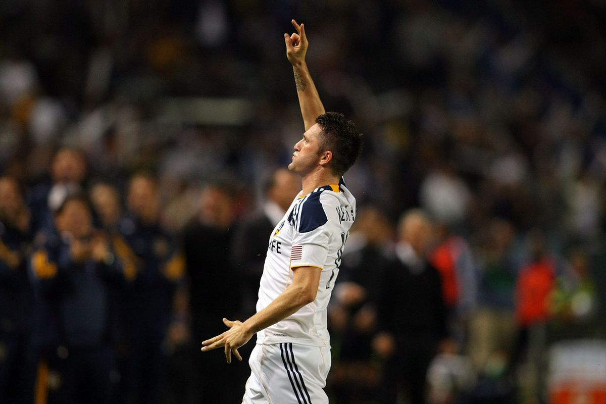 Robbie Keane scored two goals against the D.C. defense