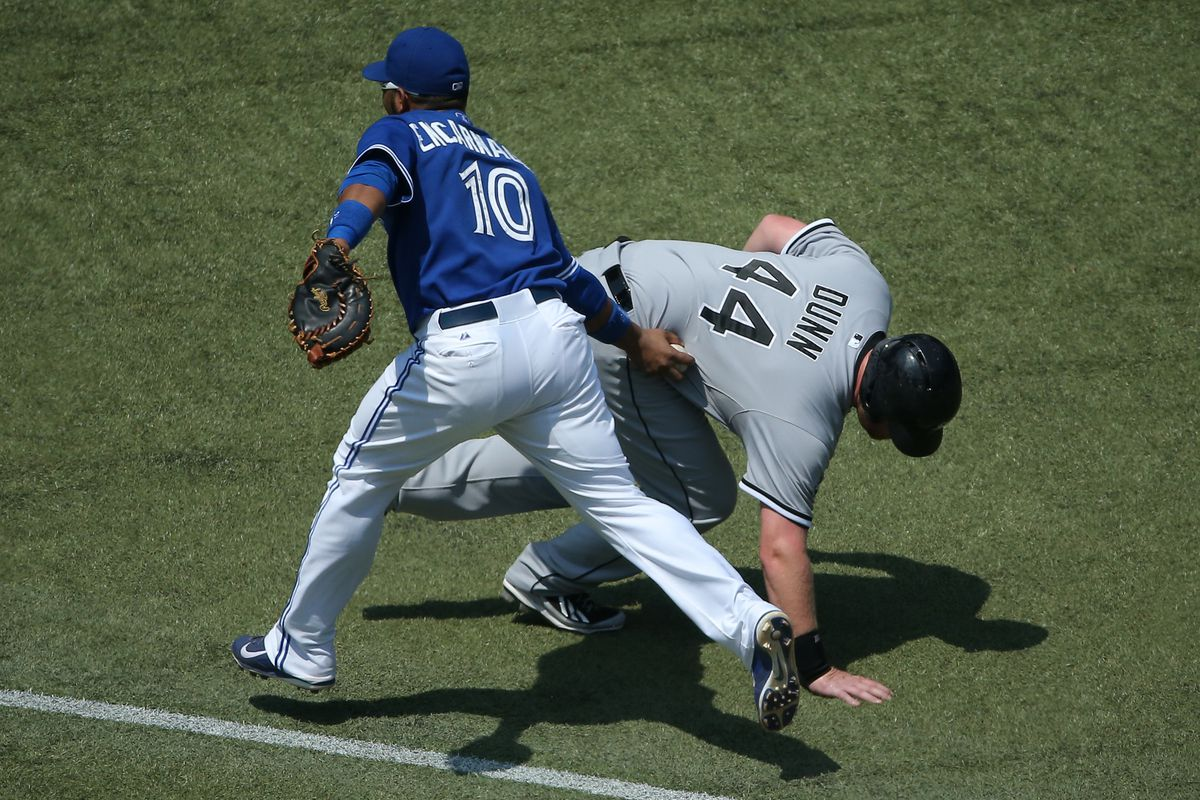 Edwin tagging out Dunn