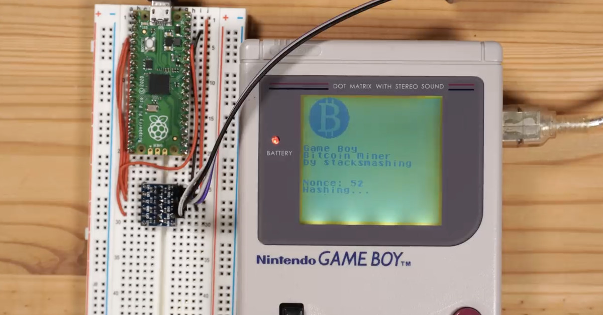 A modder made a way to mine bitcoin on a Game Boy (very, very slowly)