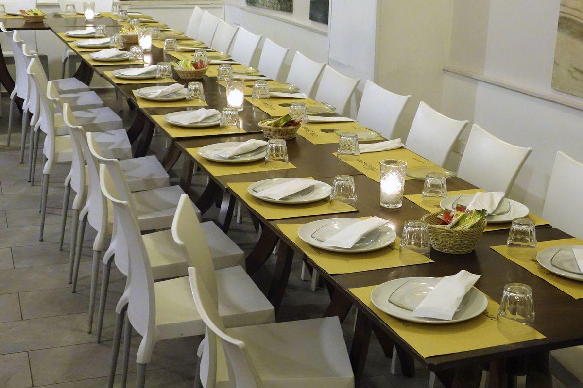 Restaurant Table Setting, Taormina, Sicily, Italy
