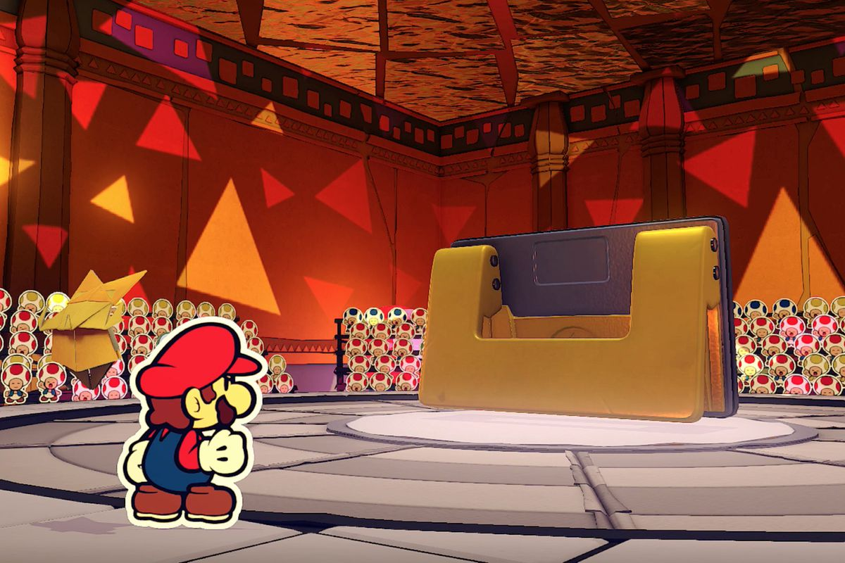 Paper Mario: The Origami King Hole Punch boss fight guide