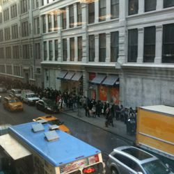 The view from the second floor of Modell's