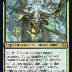 Witherbloom professor Willowdusk is a Commander focused on channeling life energy into other creature cards.