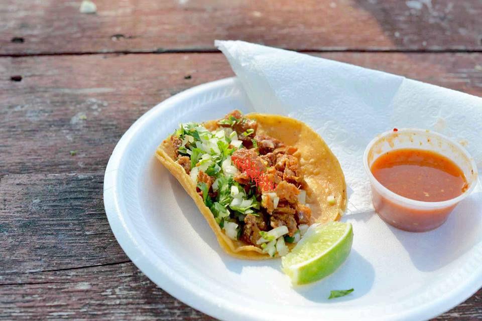 A taco from Las Trancas