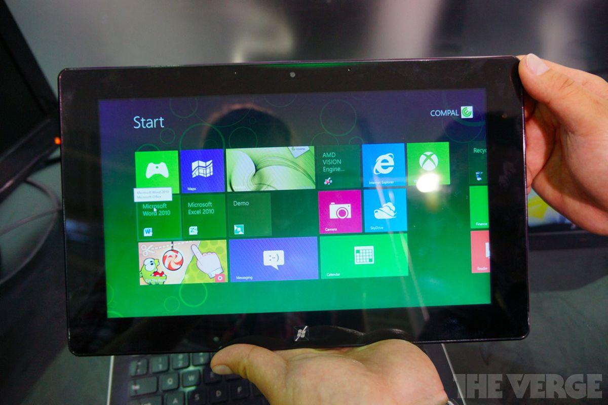 Gallery Photo: Compal AMD Windows 8 hybrid tablet hands-on photos