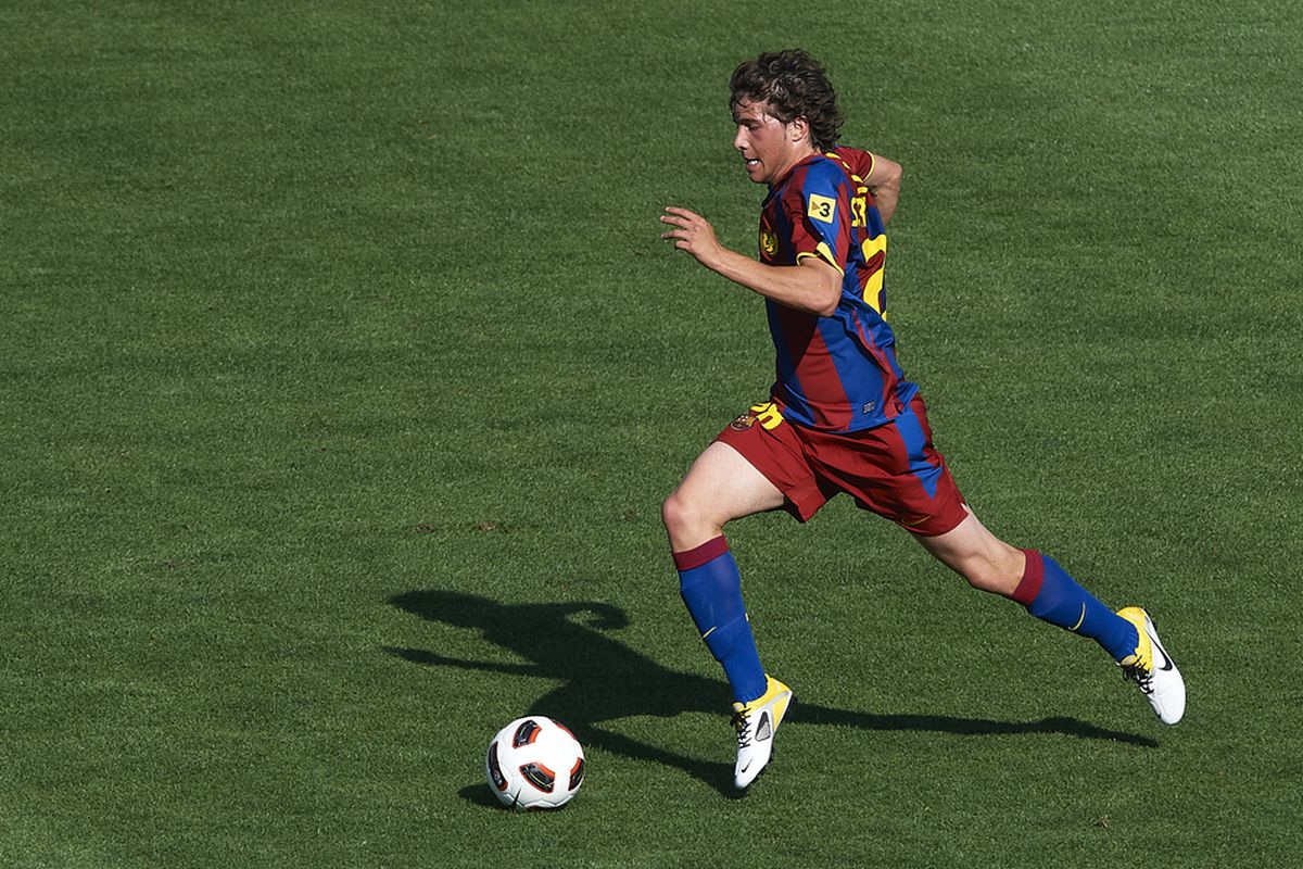 Sergi Roberto played just his second game at the U-21 level yesterday.