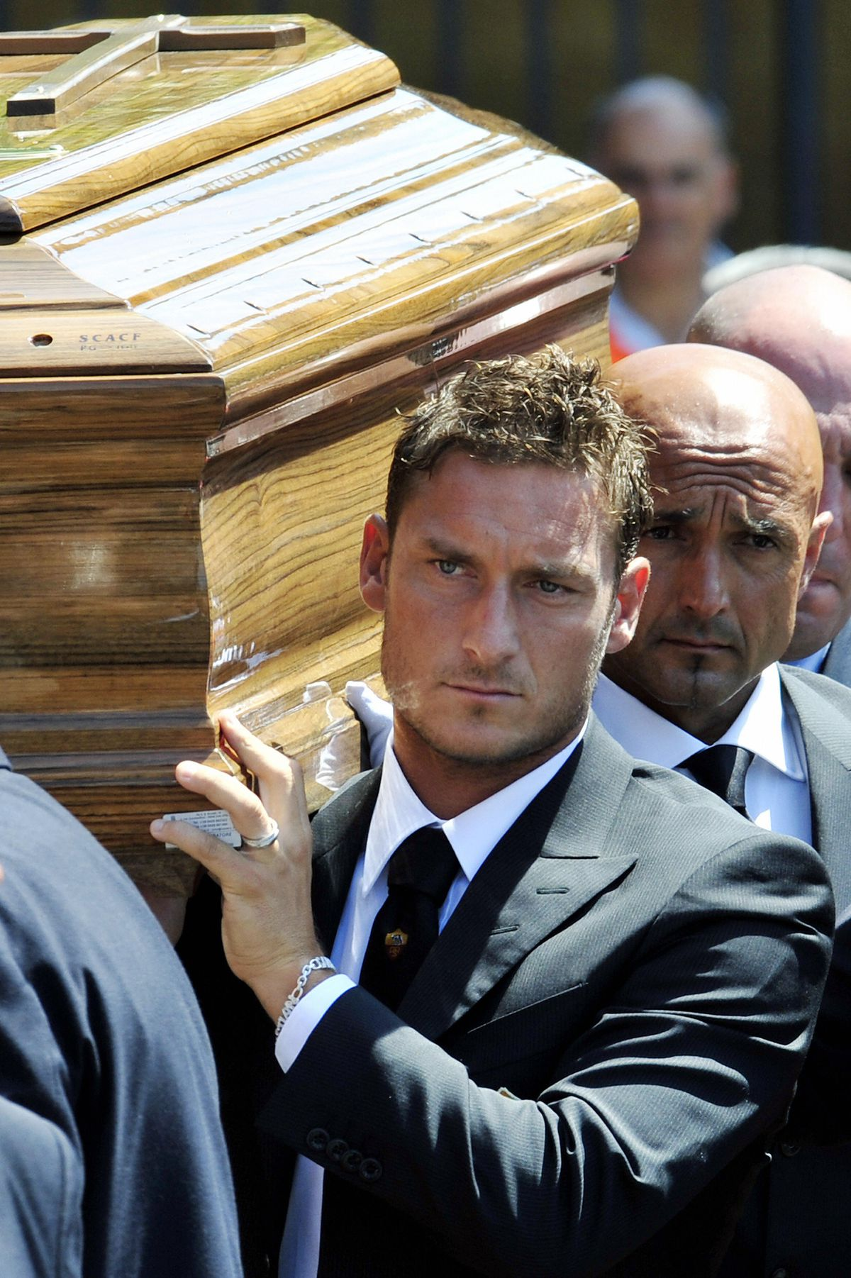 The coffin of the AS Roma football club
