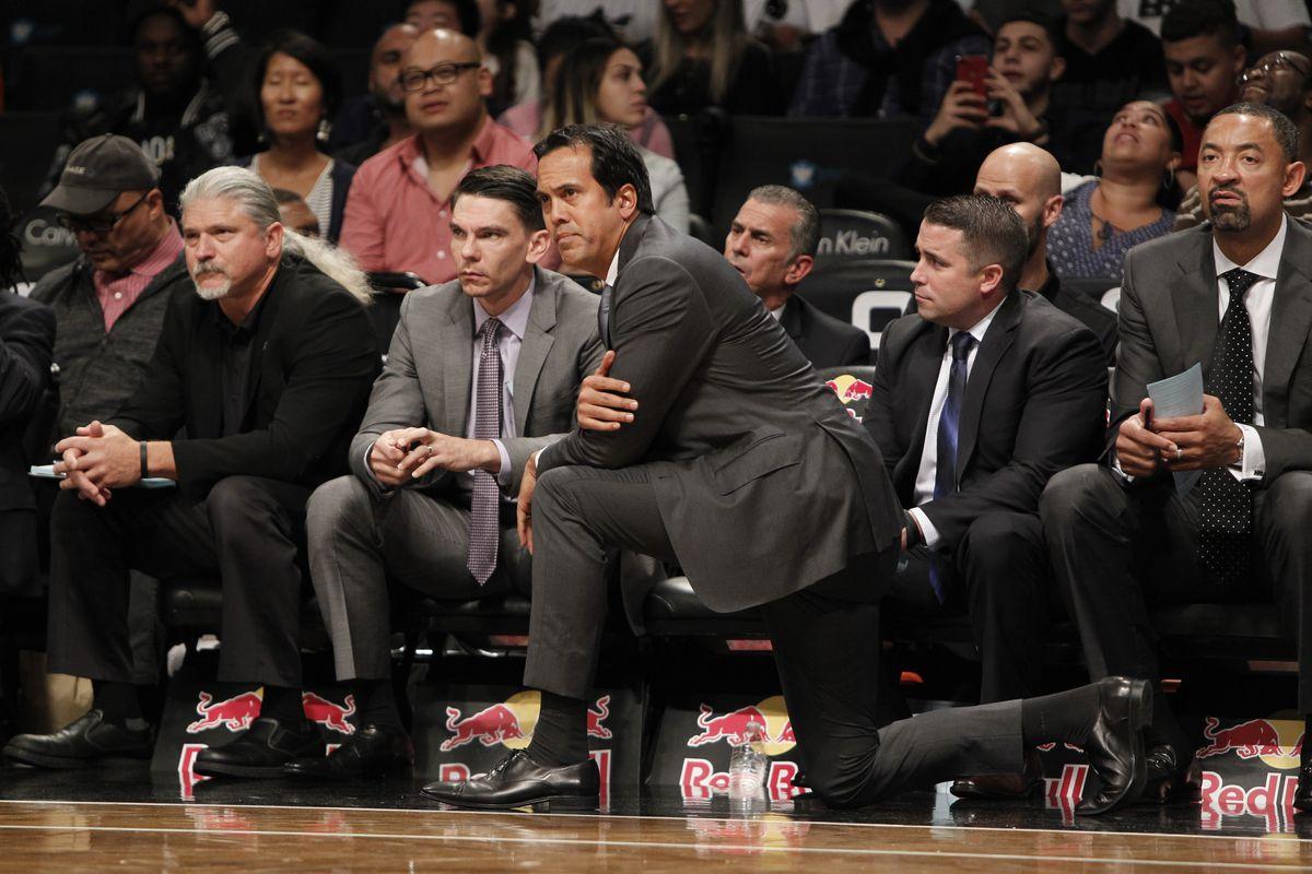 NBA: Preseason-Miami Heat at Brooklyn Nets