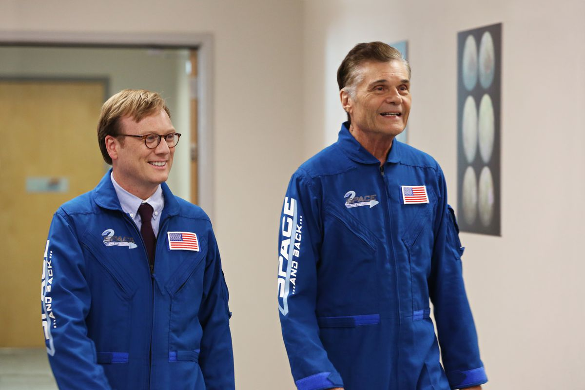 Andy Daly (left) is the star and developer of Review with Forrest MacNeil, one of this year's best new comedies.