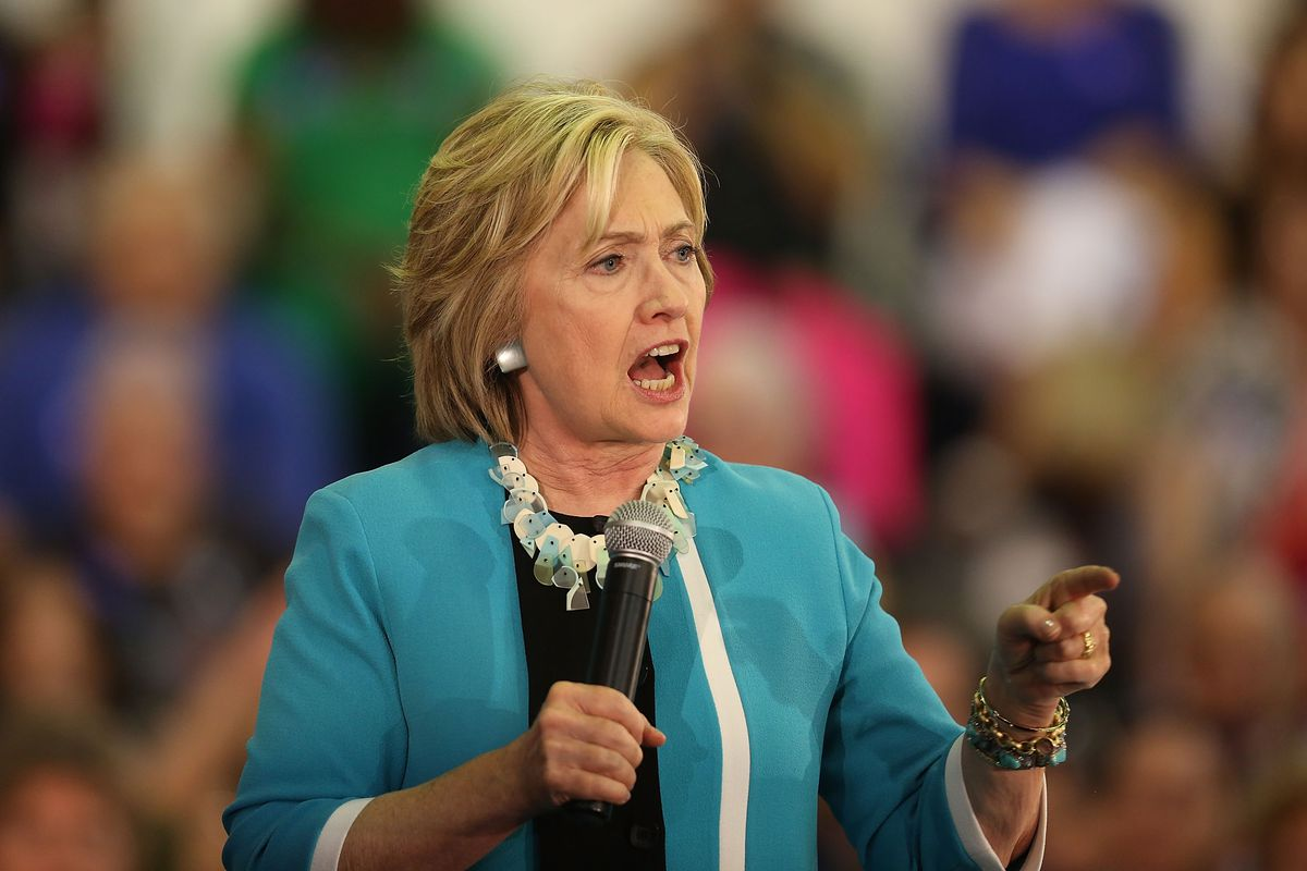 Democratic presidential candidate Hillary Clinton speaks about gun control during her campaign stop at the Broward College Ð Hugh Adams Central Campus on October 2, 2015, in Davie, Florida.