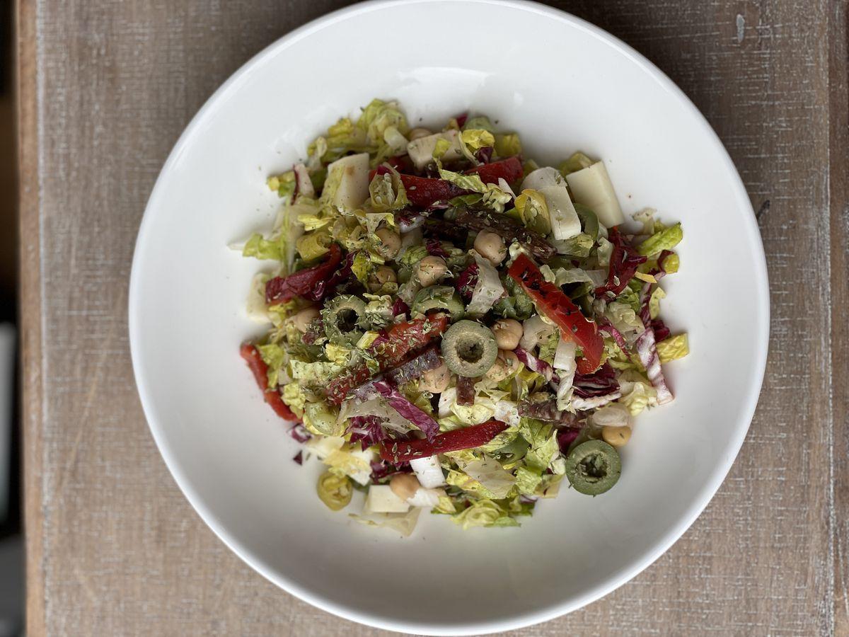 A chopped salad from La Collina