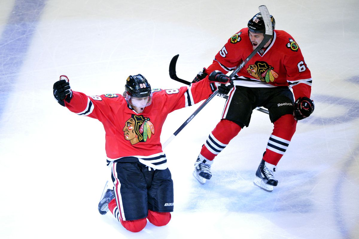 Chicago penalty #88, two minutes high sticking