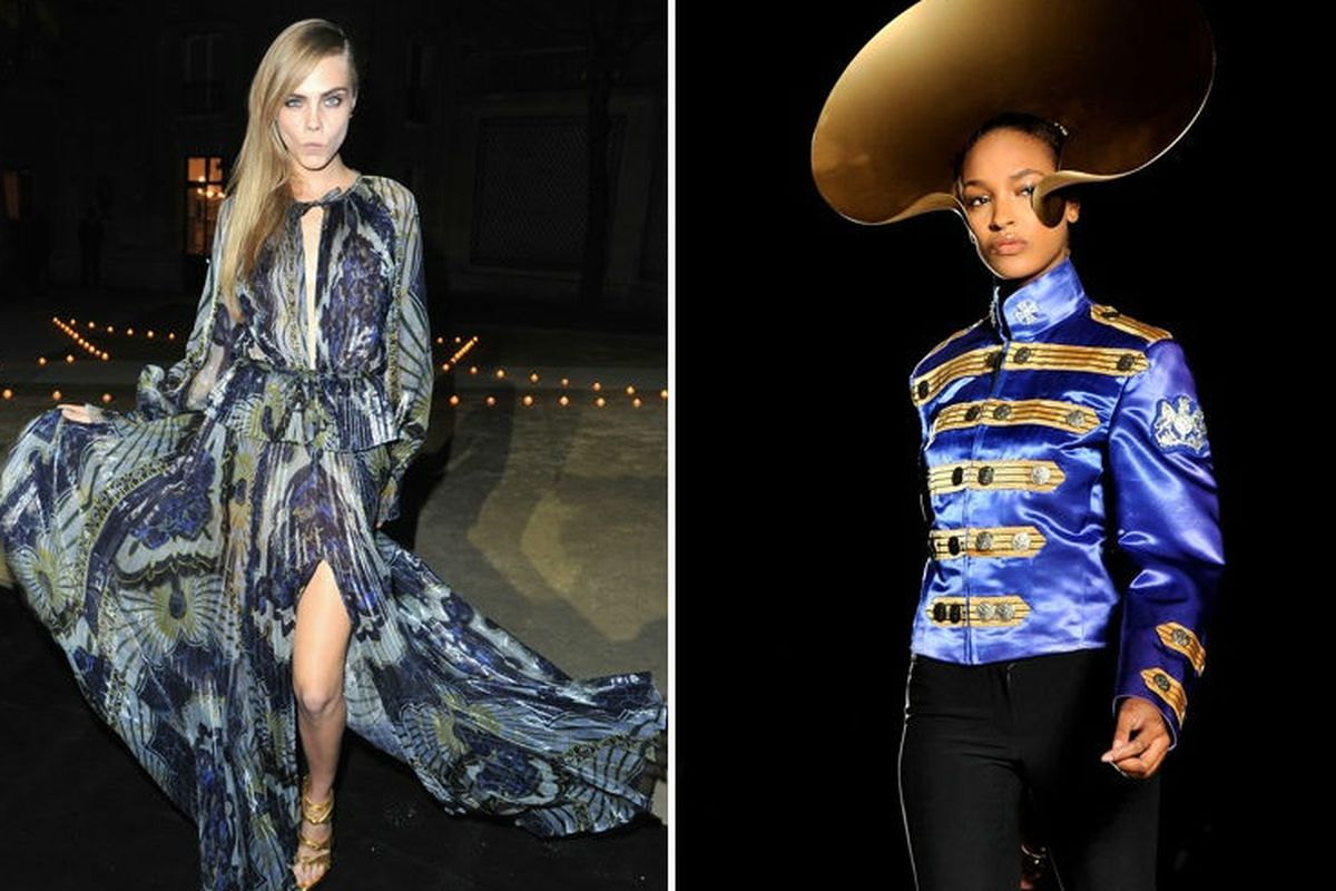 Probably the looks by Cara Delevingne and  Jourdan Dunn's that swayed the Victoria's Secret acceptance committee. Images via Getty