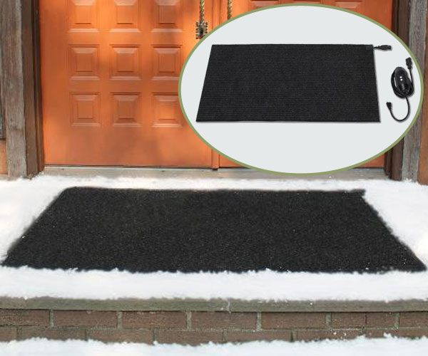 HeatTrak door mat to melt ice off your front entry way.