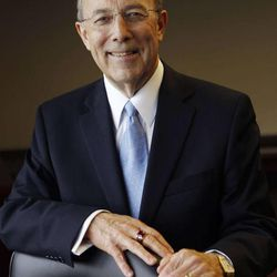 Keith B. McMullin poses for a portrait after being appointed as the new CEO of Deseret Management Corporation in Salt Lake City, Thursday, April 5, 2012.