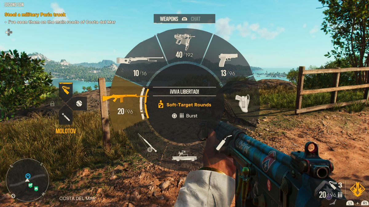 Changing the rate of fire in Far Cry 6