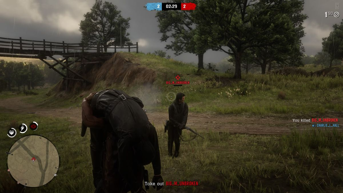 Testing Feuds in the early hours of Red Dead Online.