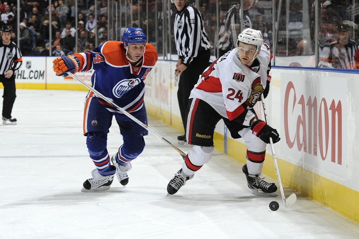 Stephane Da Costa flew to California and back almost as fast as Ryan Smyth (also pictured). (Photo by Dale MacMillan/Getty Images)