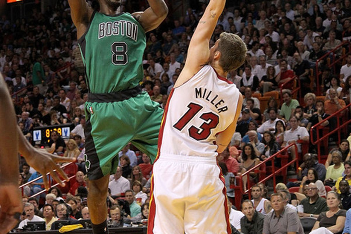 This is what Jeff Green looks like on the court in case you have forgotten.