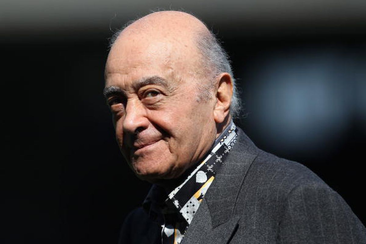 Mohamed - Al Fayed.  Photo via Getty Images