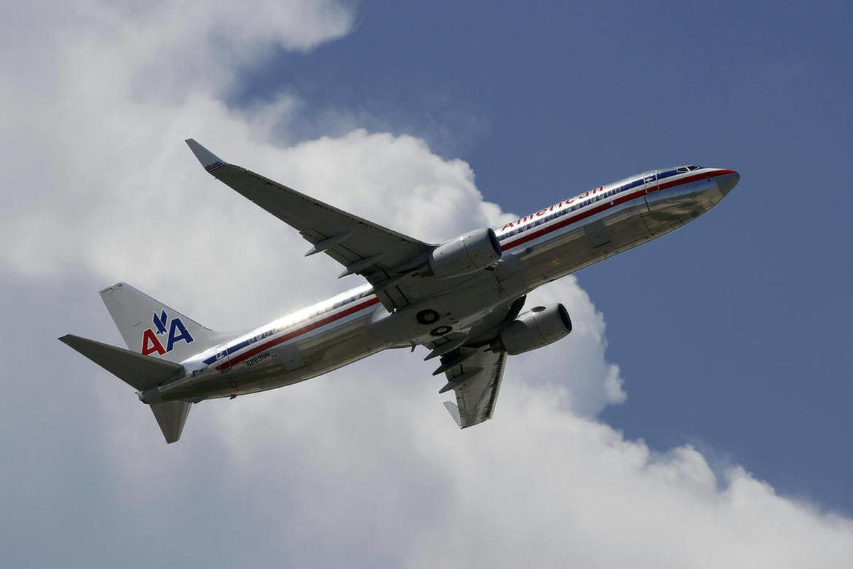 This Monday, Aug. 20, 2012 photo, shows an American Airlines  aircraft taking off at Miami International Airport in Miami. American Airlines and American Eagle announed Thursday, Sept. 20, 2012 they will cancel 300 flights this week to cope with a high nu