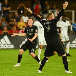 Wayne Rooney gestures