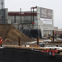Construction continues on the new Hale Centre Theatre as work begins on the new Mountain America Credit Union Corporate offices in Sandy on Wednesday, Dec. 21, 2016. The 2018 season will mark the organization's first full season in the new venue, which is scheduled to open for its first performance on Sept. 1.
