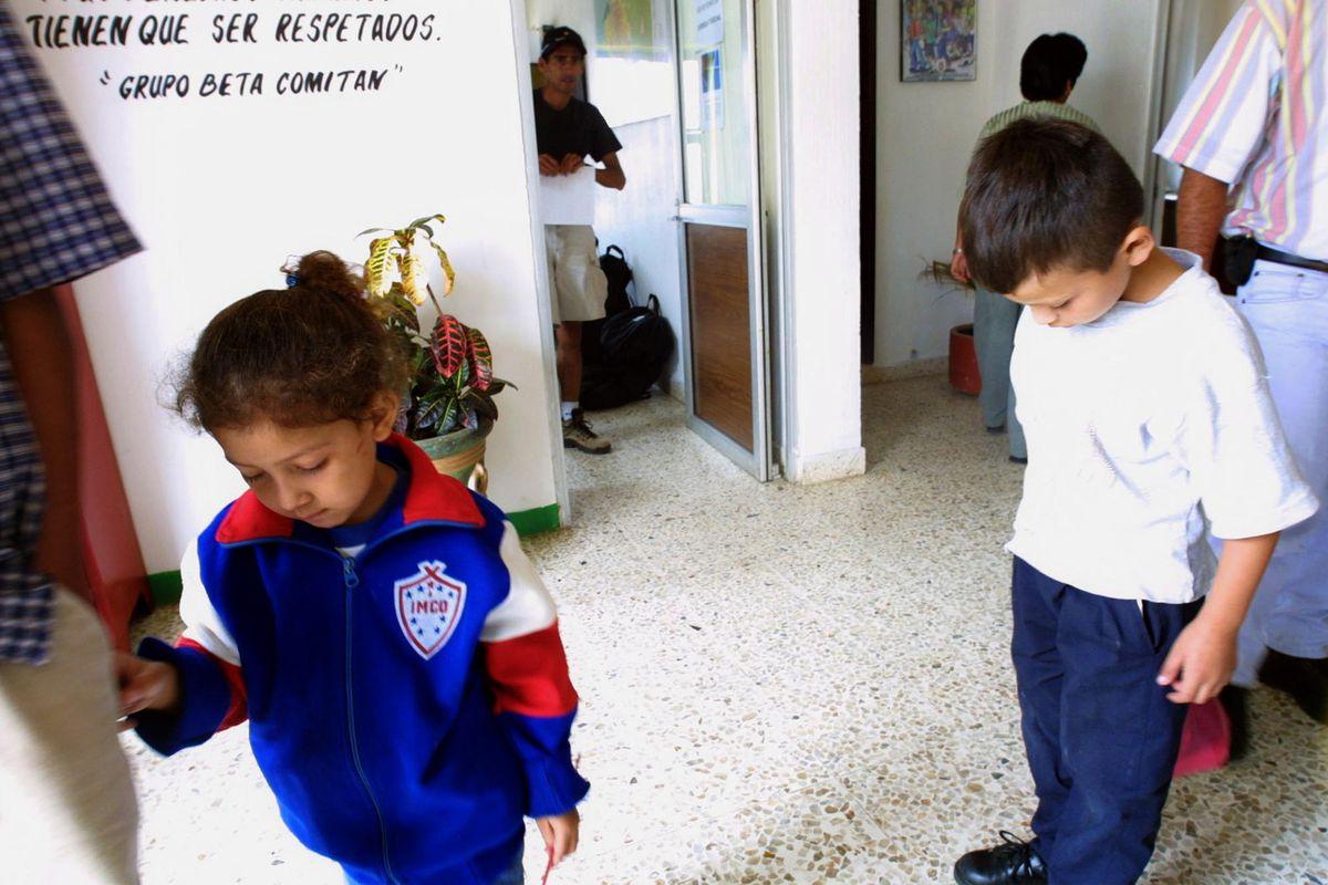 Young migrant children in Chiapas.