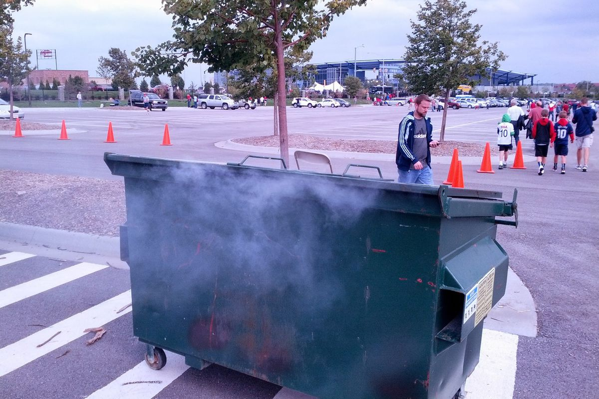 No, that's not Fulham; it's a real dumpster fire. I understand if you might be confused