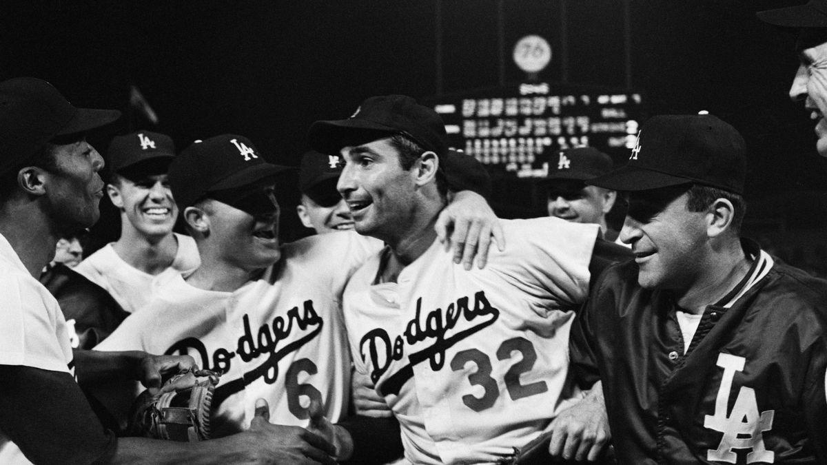 Dodgers Congratulating Sandy Koufax