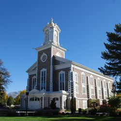A photo of the Logan Tabernacle in the fall of 2015.