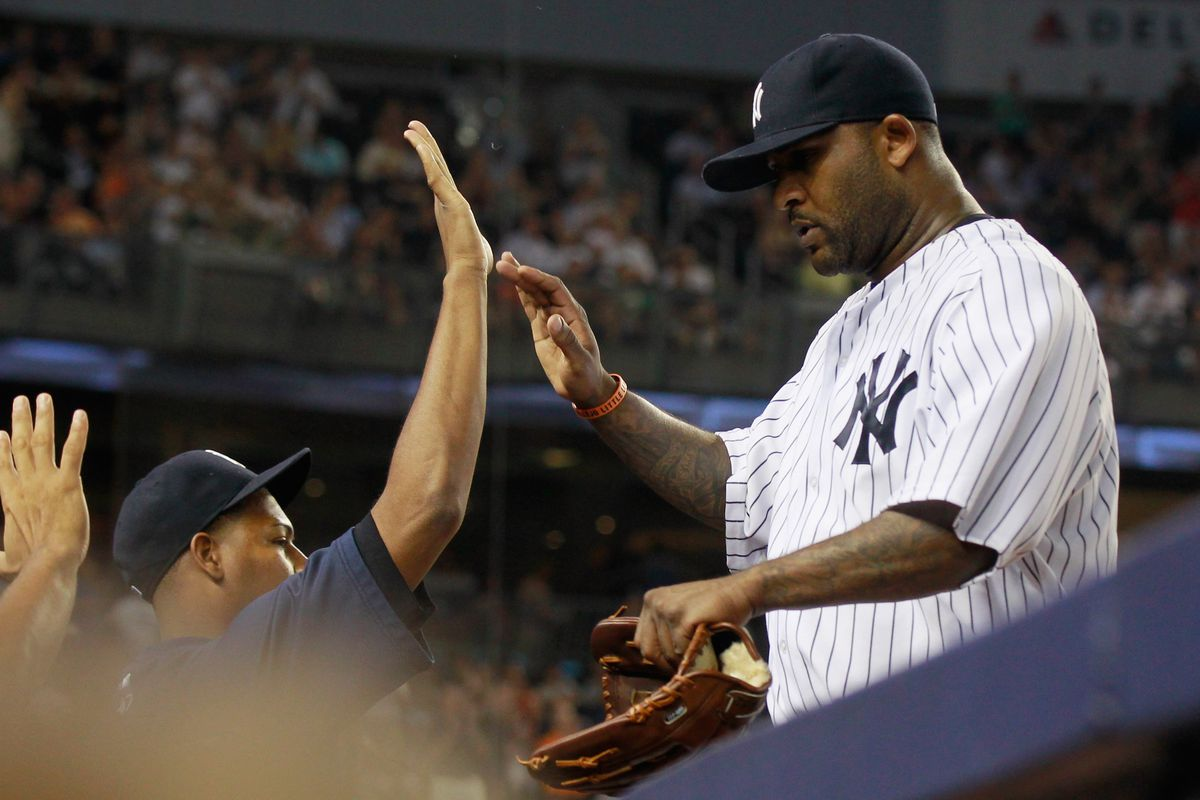 CC Sabathia is once again blessing the Yankees, bringing the pitching staff closer to its ideal form.  (Photo by Mike Stobe/Getty Images)