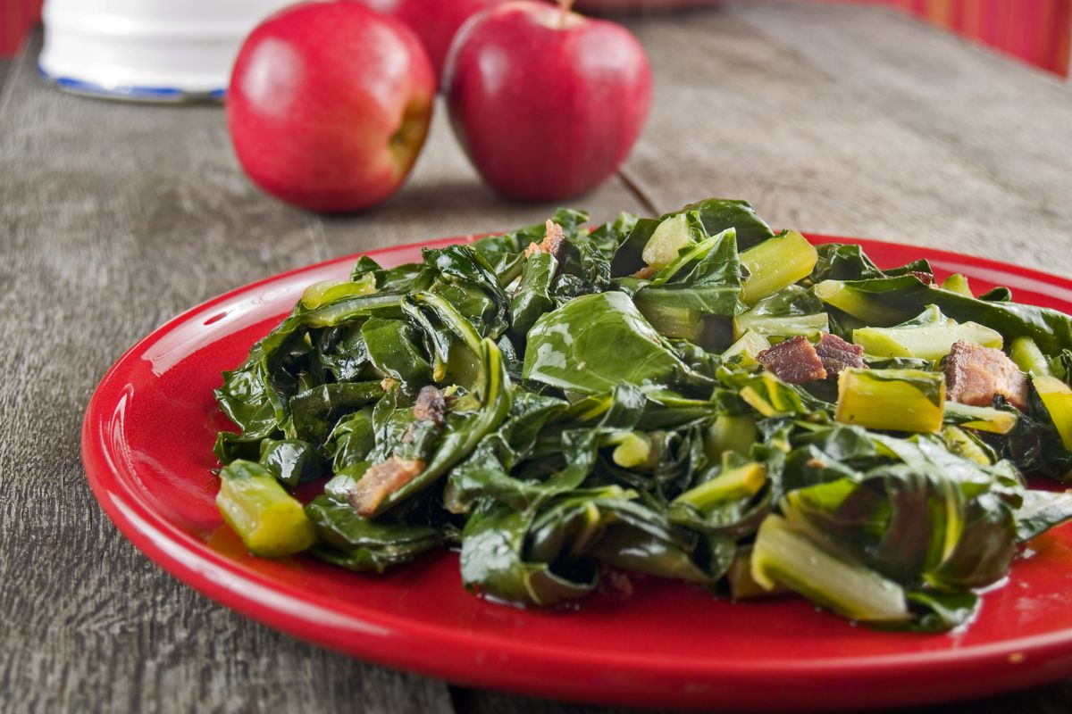 """Collard greens (pictured) and mustard greens joined the """"Dirty Dozen"""" list at No. 3 this year, sharing a spot with kale. The pesticide most frequently found on thesegreens was DCPA, a compound classified by the U.S. Environmental Protection Agency as a possible carcinogen."""