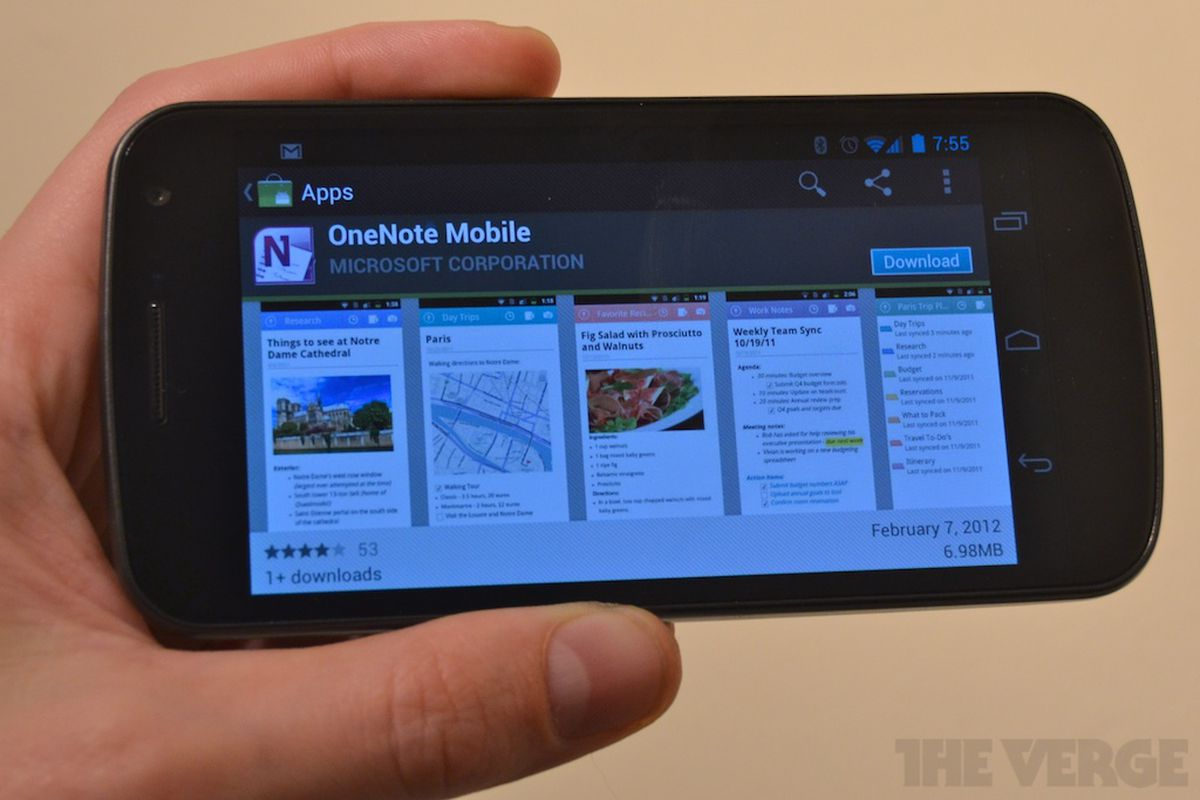 Microsoft OneNote Android 1024