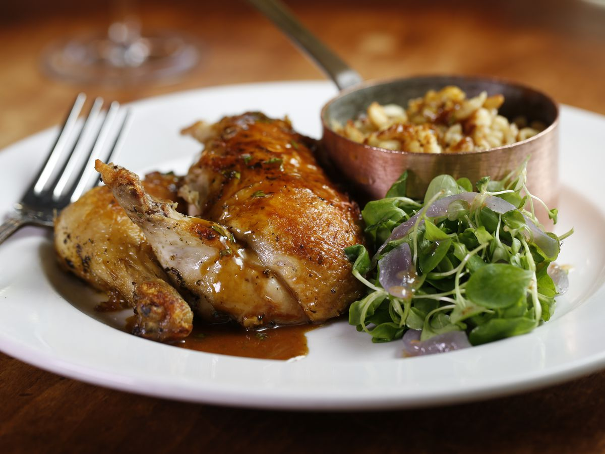 roast chicken with sides
