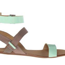 """<b>Joe's</b> Eryn Sandal, <a href=""""http://www.joesjeans.com/Eryn/-3719787619035826228/Product?sku=R1482-7-MNTPAT"""">$85</a>"""
