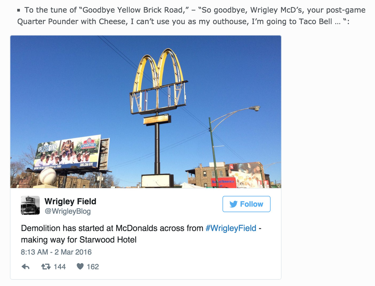 Goodbye Mickey D's
